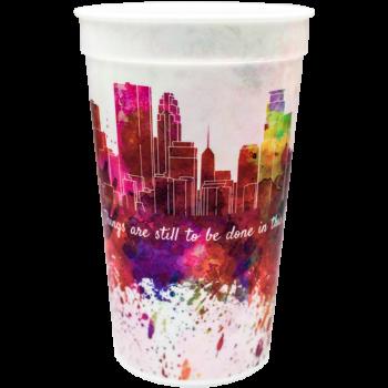 22oz Full Color Wrap Stadium Cups