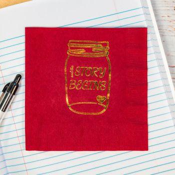 3ply Foil Stamped Beverage Napkins