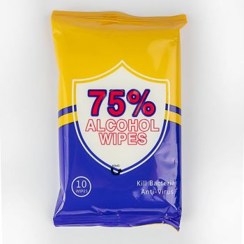 Antibacterial Wet Wipes Travel Pack - 10 Count