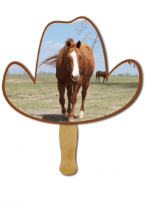 Cowboy Hat Hand Fans