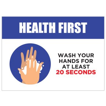 Health First 20 Seconds Rule Stickers