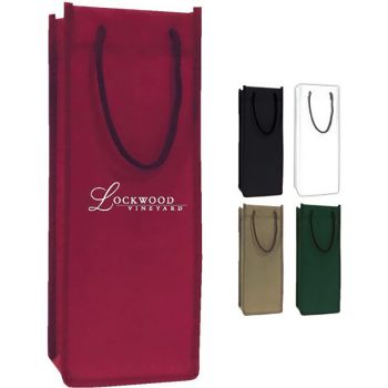 Single Bottle Wine Tote Bag