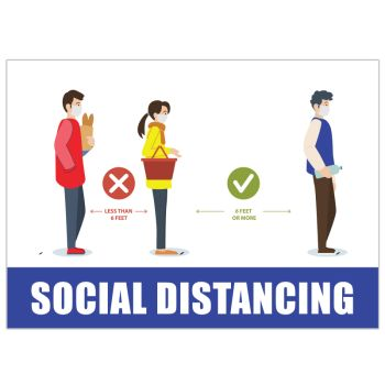 Social Distancing Infographic Stickers
