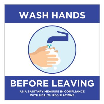 Wash Your Hands Before Leaving Stickers