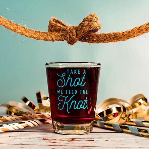 Custom Wedding Shot Glasses - Wedding Favors - Custom Wedding Party Favor