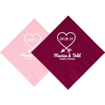 Custom Wedding Napkins - Wedding Party Favor Custom - Personalized Wedding Favors